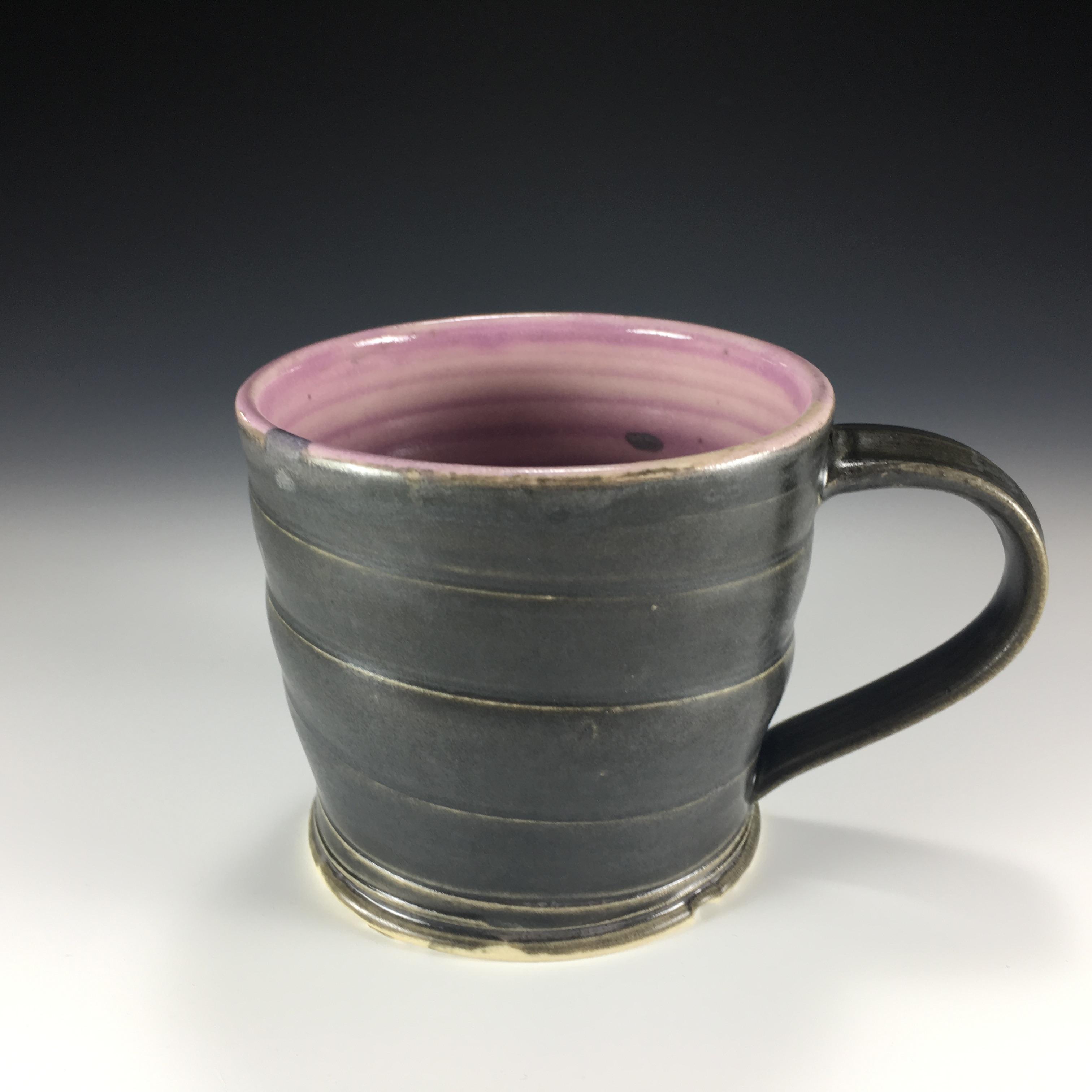 Matte Black & Violet Mug