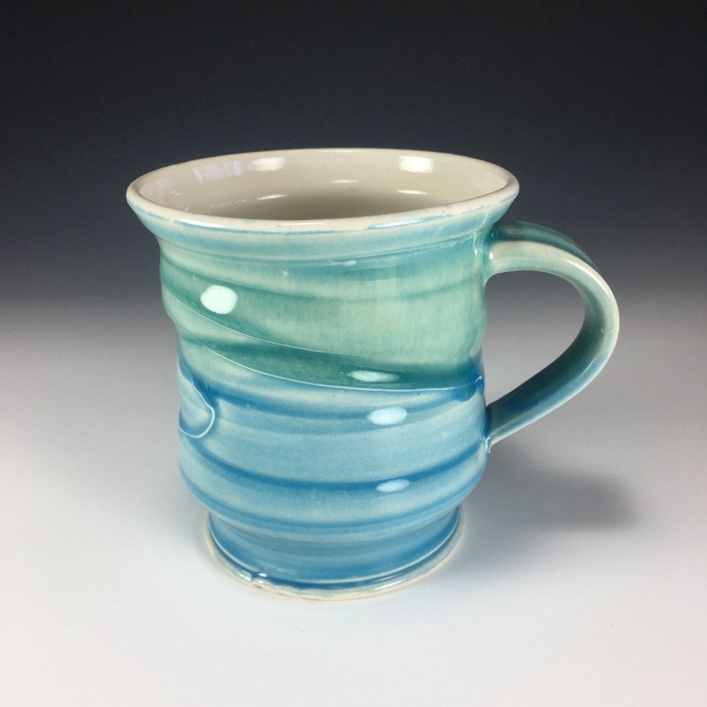 Blue and Green multi-coloured mug
