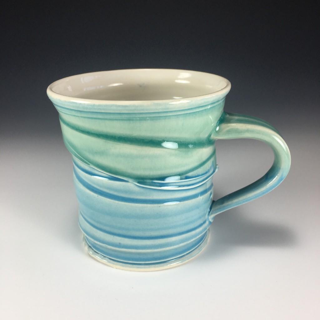 Blue and Green multi-coloured Mug