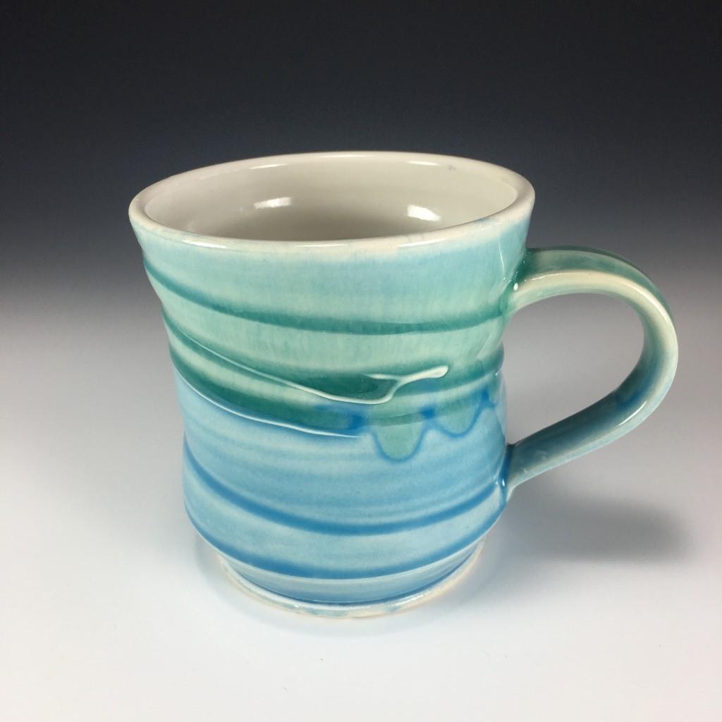 Blue and Green Mug