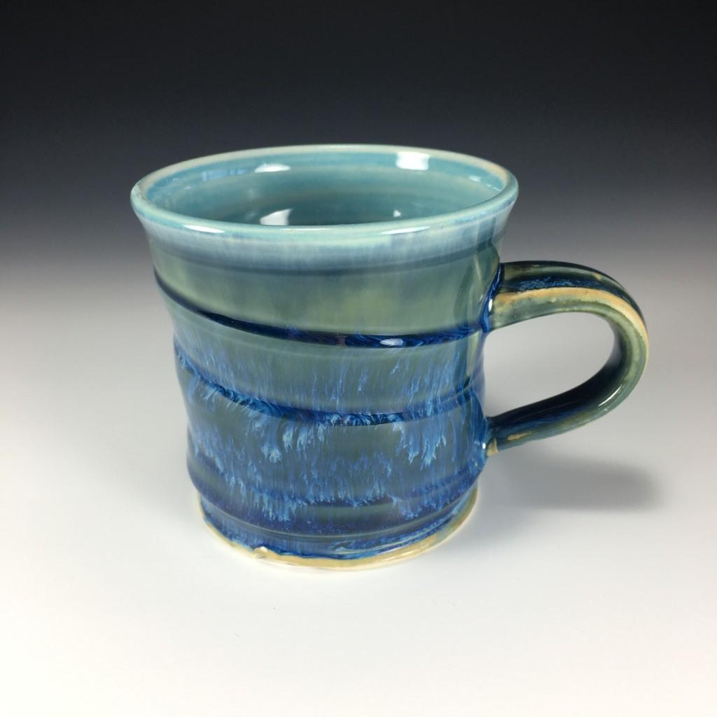 Drippy Blue Mug