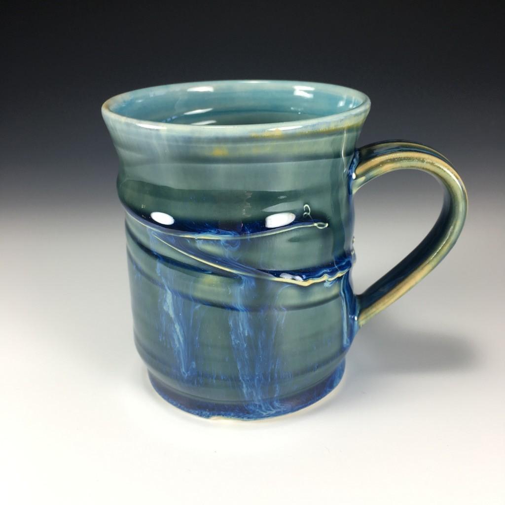 Large Drippy Blue mug