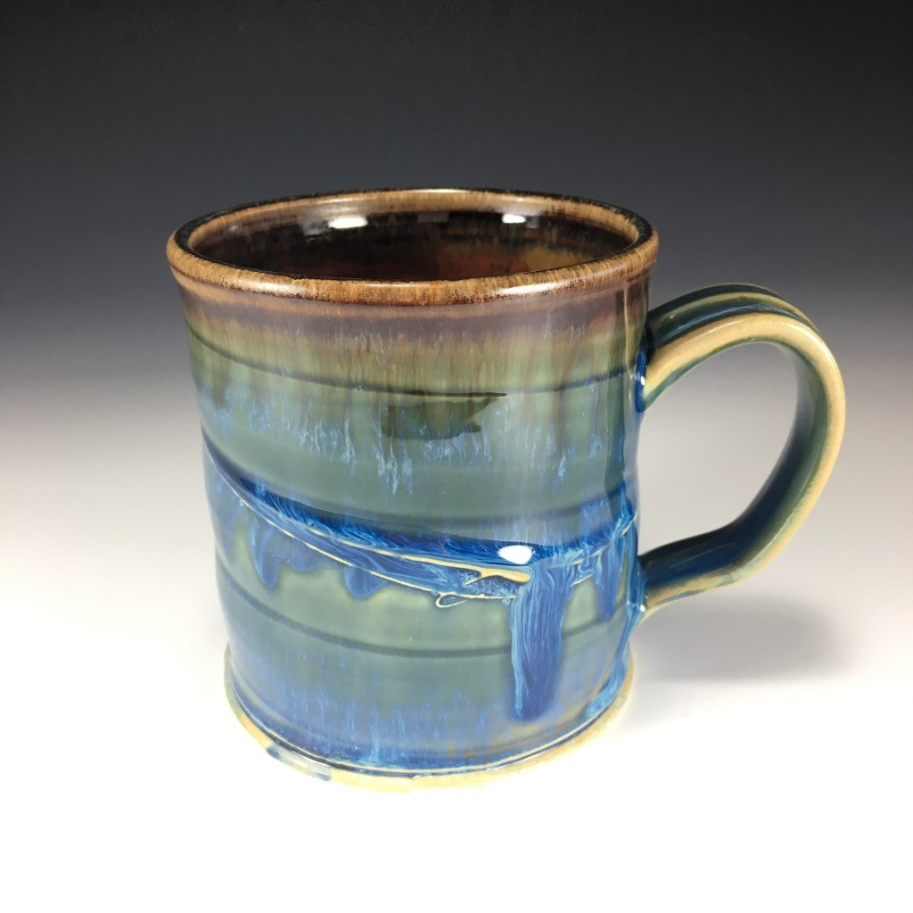Drippy Blue and Brown mug