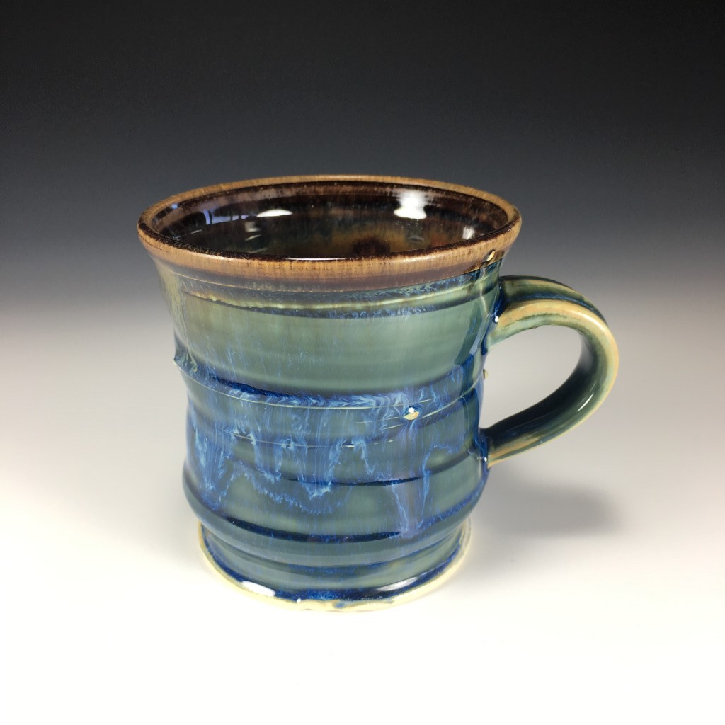 Drippy Blue and Brown mug