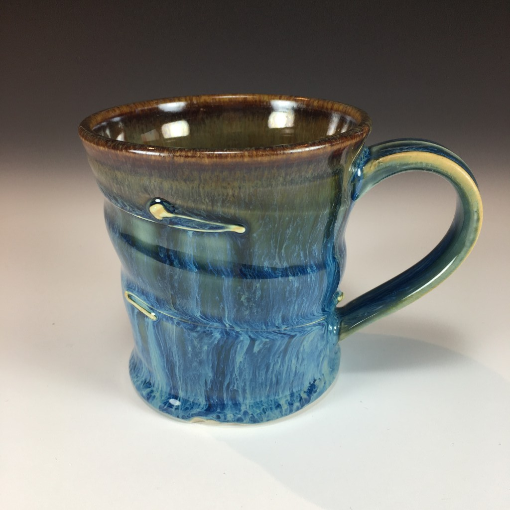 Drippy Blue Mug