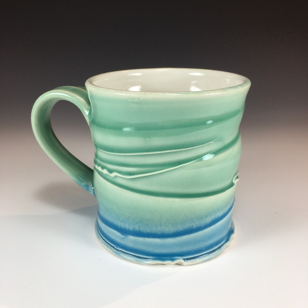 Blue and Green Mug