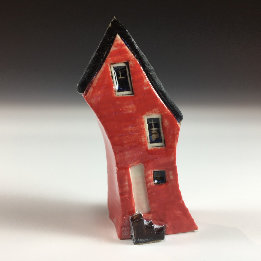 Tiny Red Ceramic House